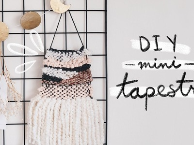 DIY mini tapestry (using a cardboard loom)