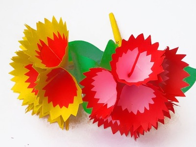 DIY paper flower making easy tricks 2019 # Paper craft idea - Awesome flower making tricks