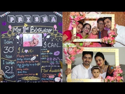 DIY: PHOTO BOOTH FRAME & BIRTHDAY CHALKBOARD | Easy & Cheap Birthday Decorations Ideas