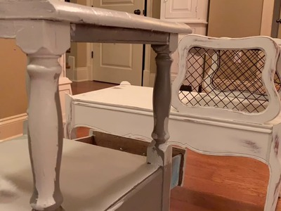 DIY Projects: Adding Chicken Wire To An Antique Pie Safe, And Some Painting Projects:)