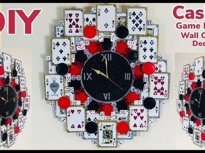 Dollar Tree DIY Casino Game Room Wall Clock Decor 2019. Good for father's.Mother's.