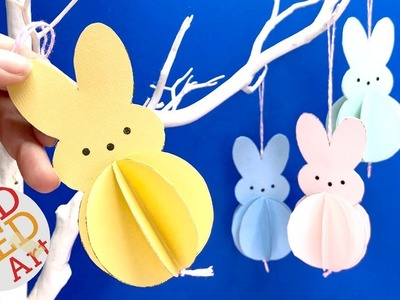Easter Bunny Decoration - Paper Peeps Ornaments