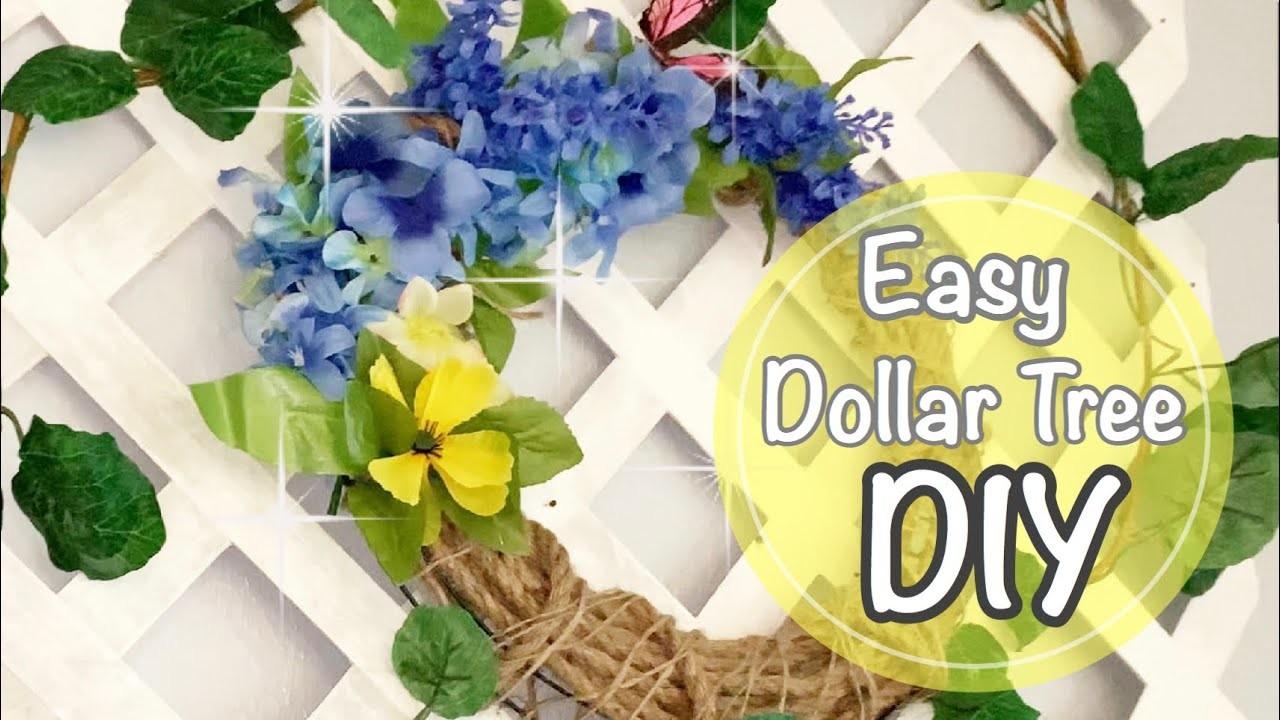 Easy Dollar Tree Wreath DIY || Spring Home Decor 2019 || On Budget !