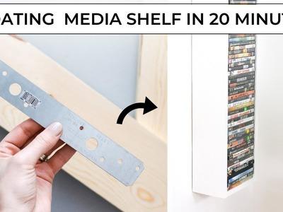 Easy Media Shelf DIY - Make it in 20 minutes!