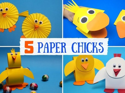Easy Paper Chick Crafts for Kids | Easter Paper Crafts