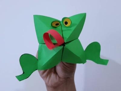 Easy paper frog for kids.Easy paper crafts.Crazy Frog