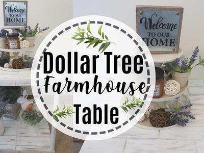 FARMHOUSE DECOR DIY    DIY DOLLAR TREE TABLE   FARMHOUSE TABLE DIY