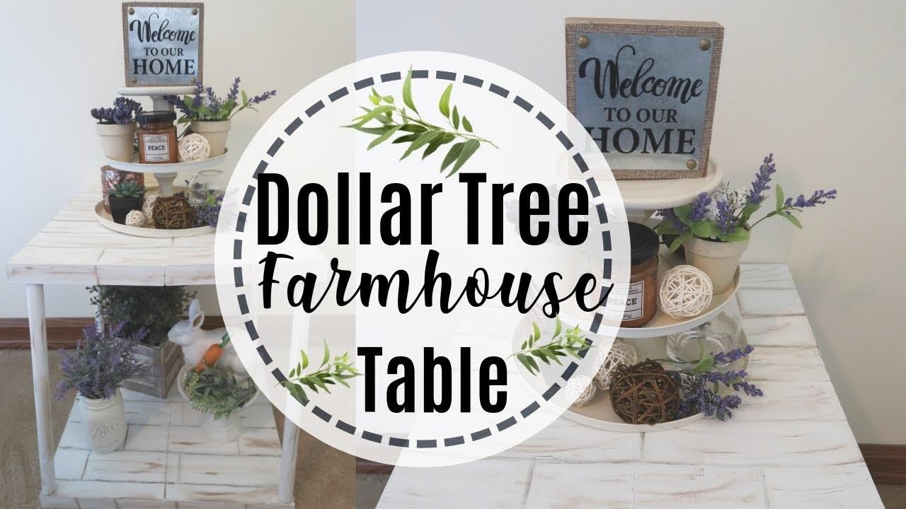 FARMHOUSE DECOR DIY  | DIY DOLLAR TREE TABLE | FARMHOUSE TABLE DIY