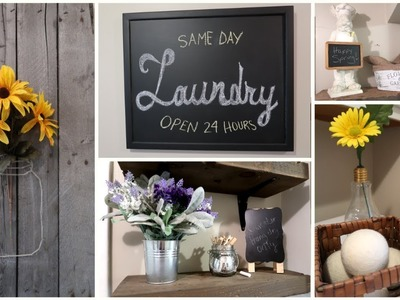 FARMHOUSE STYLE LAUNDRY ROOM REFRESH | DIY | SPRING DECOR | RUSTIC | REMODEL | MAKEOVER