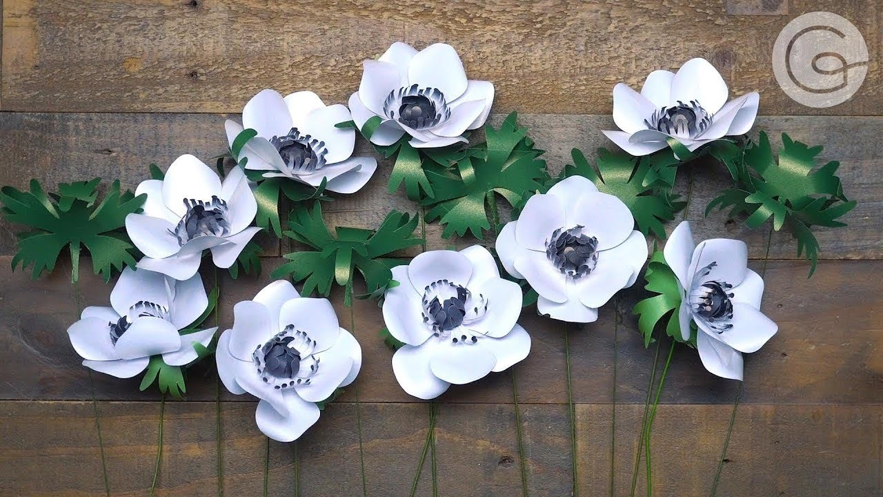 Frosted Paper Anemone Flower Kit: How to Make a Pretty Anemone Flower with Paper