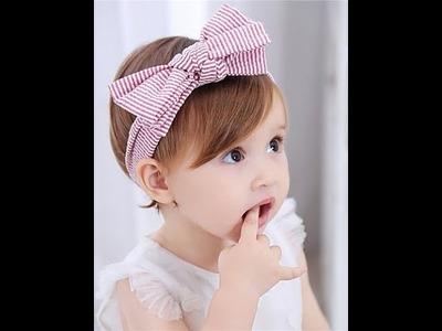Headband baby girl kanzashi fleur ربطه شعر للبنات
