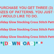 Holiday Glow Stocking Cross Stitch Pattern***LOOK*** ***INSTANT DOWNLOAD***