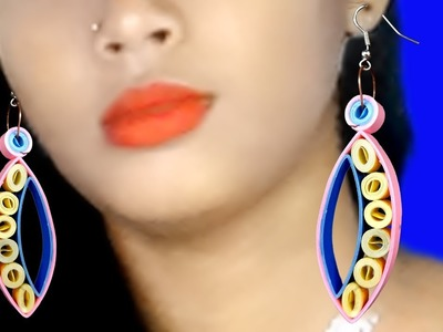 How To Make Paper Earrings |