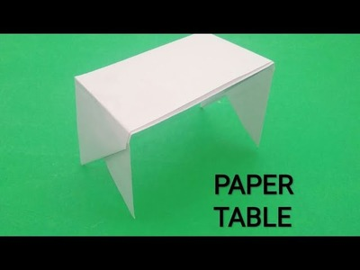 HOW TO MAKE PAPER TABLE EASY ORIGAMI CREATIVE CHANNEL