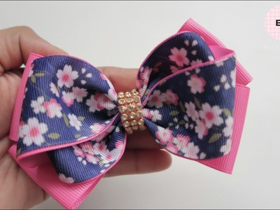 Laço De Fita ???? Ribbon Bow Tutorial #34 ???? DIY by Elysia Handmade