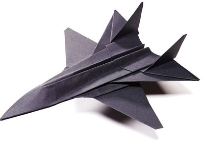 Origami Paper Jet Fighter Sukhoi Su-35 - Paper Crafts 1101