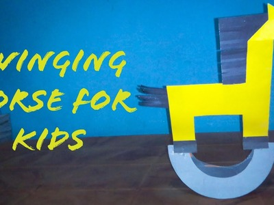 Paper Swinging Horse For Kids | Easy And Simple Swinging Horse | The Best Crafts