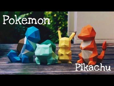 Pikachu - Pokemon crafts with paper