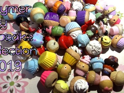 Polymer clay cupcake collection