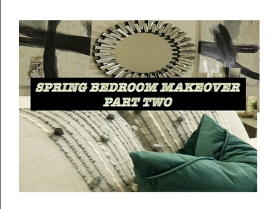 SPRING BEDROOM MAKEOVER|| PART 2|| DIY EURO SHAM COVERS!