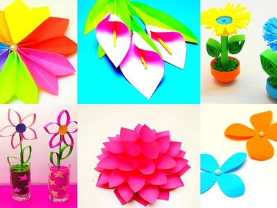 19 DIY Paper Flowers | How to make Paper Flowers  | Awesome Paper Crafts Flowers