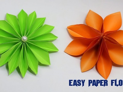 2 Easy Paper Flower | How To Make Origami Paper Flower | Paper Crafts Do It