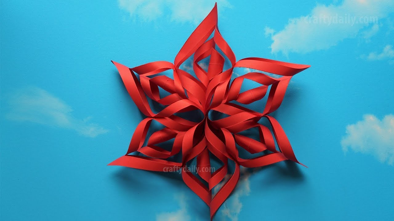 how to make paper snowflakes step by step
