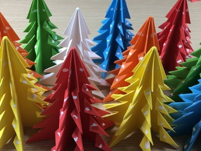 3D Paper Xmas Tree | How to Make a 3D Paper Christmas Tree Craft Ideas