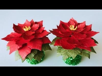 ABC TV | How To Make Mini Poinsettia Paper Flower | Flower Die Cuts - Craft Tutorial