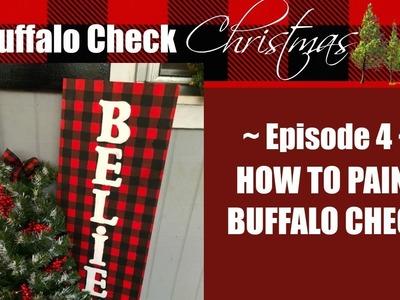 BUFFALO CHECK CHRISTMAS EP.4. HOW TO PAINT BUFFALO CHECK