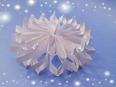how to make paper snowflakes 3d