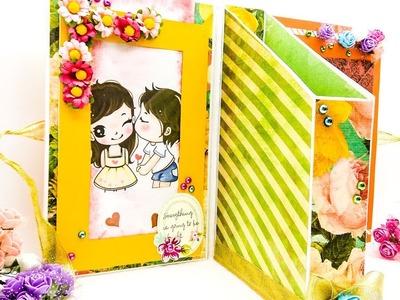 DIY birthday scrapbook ideas. anniversary scrapbook. lovely handmade scrapbook