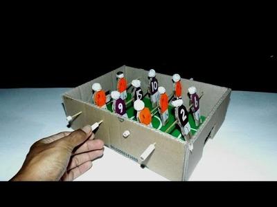 DIY How to make foosball mini table from cardboard