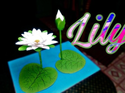 DIY How to Make Most Beautiful Water Lily With Paper!!!