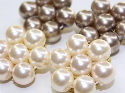 DIY : How to Pearl Rose Stud Earrings ????