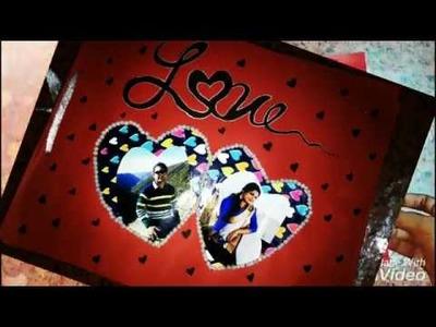 Easy and simple work scrapbook || love scrapbook ||  cute scrapbook ||  low price gift ideas