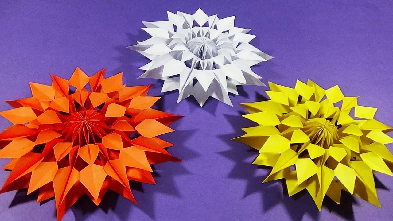 Easy Paper Snowflakes for Christmas | How to make Paper Star |