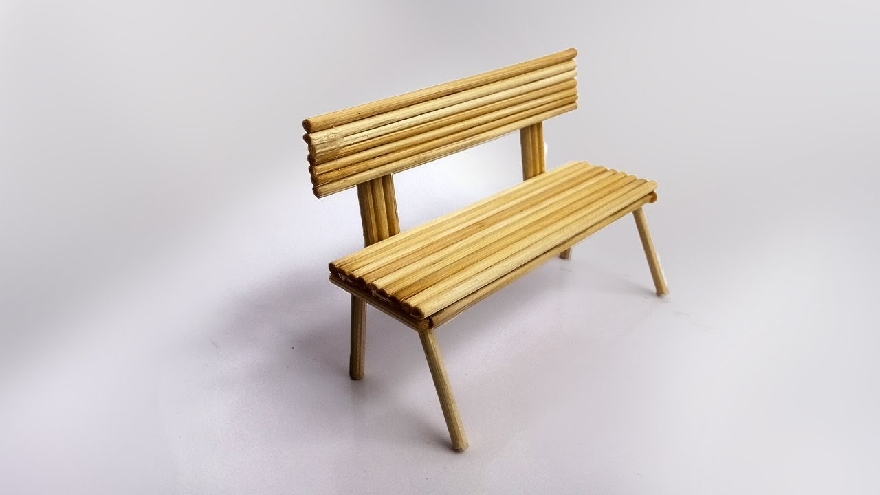 HomeCraft Ideas - How To Make A Bench From Bamboo Sticks