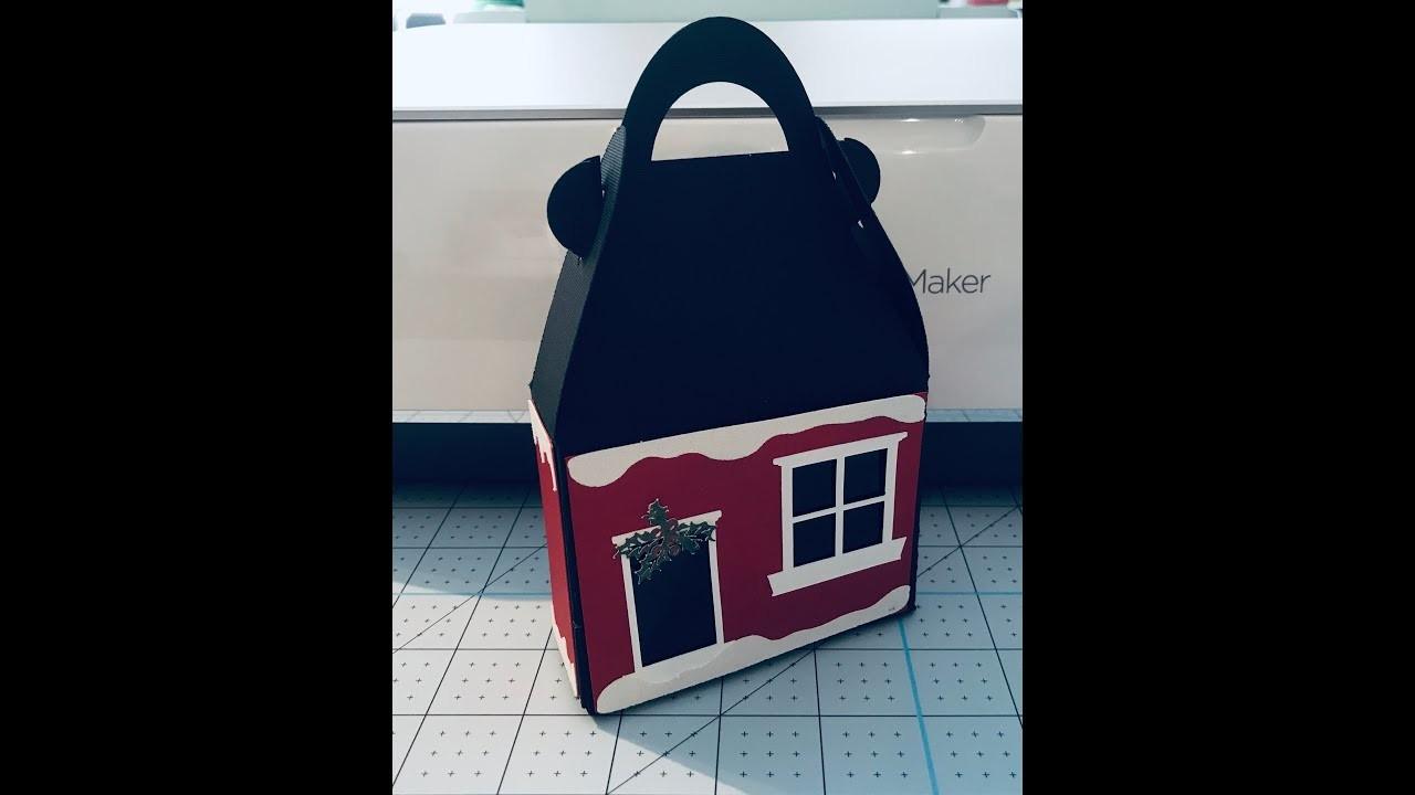 HOW TO. A CHRISTMAS HOUSE TREAT BOX