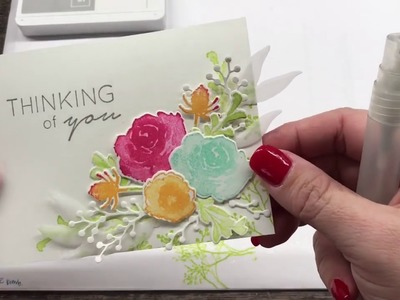 How to create a gorgeous stamped and die cut floral card
