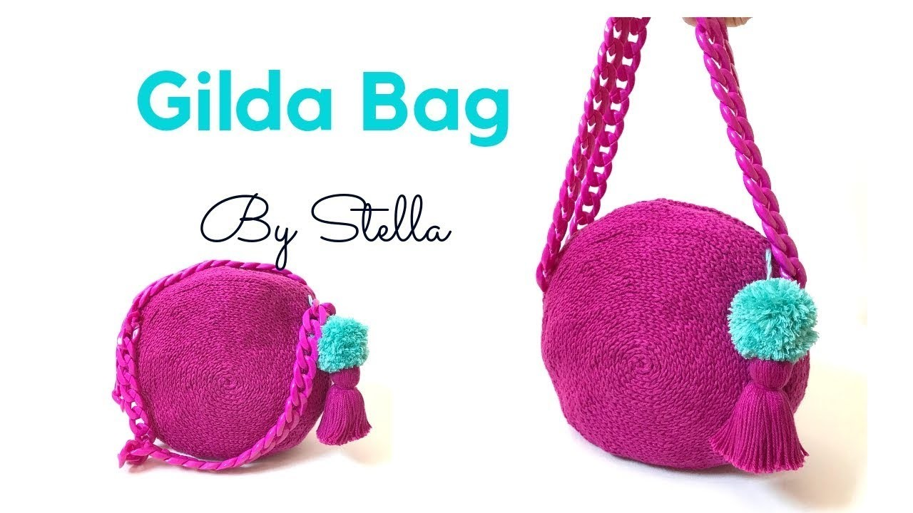"How to Crochet Round Bag ,  easy  bag "" Gilda Bag""  By Stella"