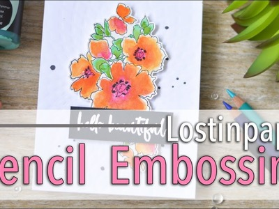 How to Dry Emboss Using a Stencil!