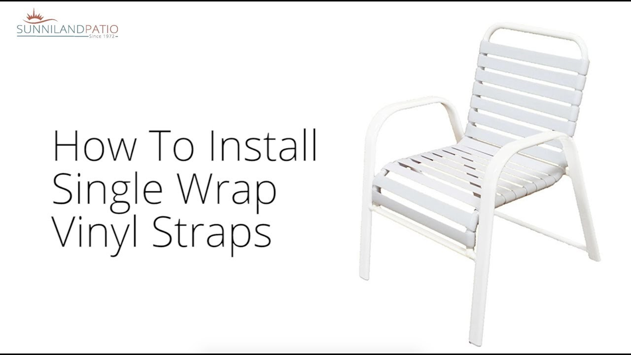 How To Install A Single Wrap Vinyl Strap
