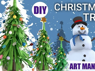 How to make 3D paper Christmas tree easy | DIY Christmas tree