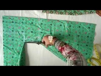 How to make 8 year girl jhabla  stylish shirt cutting full tutorial