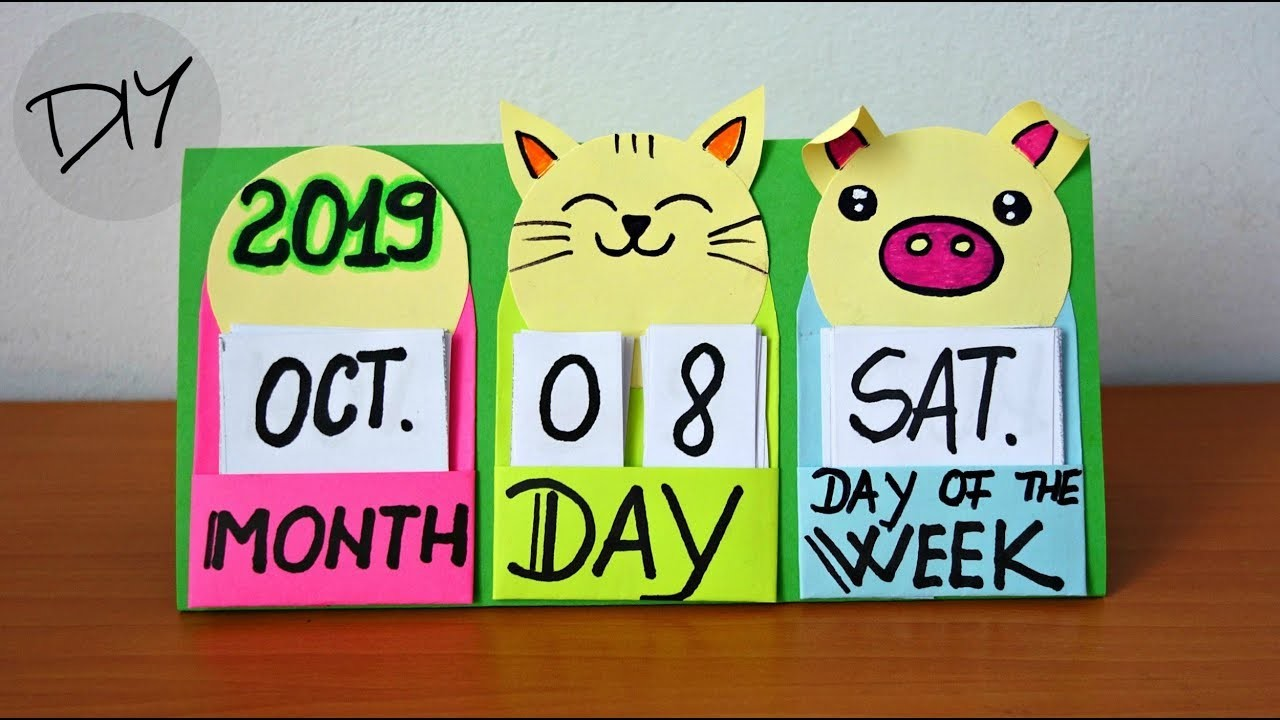 How to make a 2019 desk calendar | Fun and easy crafts for kids | Maison Zizou