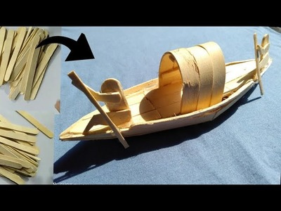 How to make a boat by wooden spoon.
