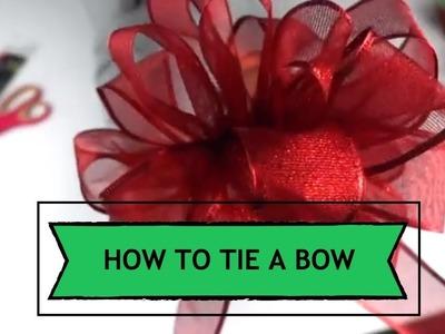 How to Make a Bow | Easiest Method | Christmas Gift Decor