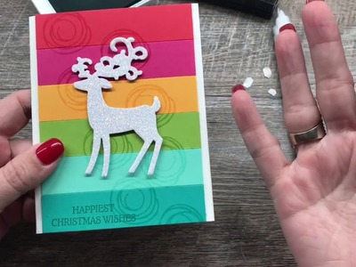 How to make a BRIGHT and HAPPY non-traditional Christmas Card