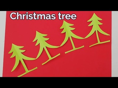 How to make a Christmas tree garlands,paper cutting Christmas tree decoration ideas Handmade